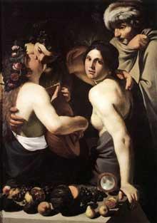 Bartolomeo Manfredi. Allégorie des quatre saisons. Vers 1610. Huile sur toile, 134 x 91,5cm. Dayton Art Institute