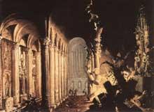 Monsu Desiderio (François de Nomé – Didier Barra): le roi de Juda Asa détruit les idoles. Huile sur toile, 82,5 x 126cm. Cambridge, musée Fritzwilliam