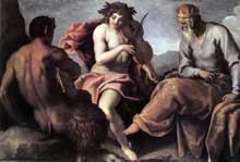 Jacopo Palma le Jeune: Apollon et Marsyas. Huile sur toile, 134 x 195cm. Braunschweig, Herzog Anton Ulrich-Museum