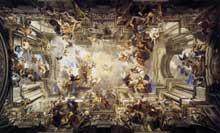 Andrea Pozzo: allégorie de la mission des Jésuites. Rome 1691-1694. Saint Ignace