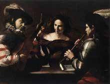 Mattia Preti: le concert. 1630. Huile sur toile, 110 x 147cm. Saint-Pétersbourg, musée de l'Hermitage