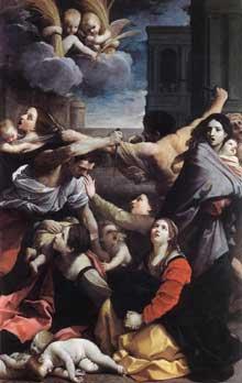 Guido Reni: le Massacre des innocents. 1611. Huile sur toile. 268 x 170cm. Bologne, Pinacoteca Nazionale