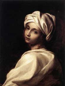 Elisabetta Sirani: Portrait de Béatrice Cenci. Vers 1662. Huile sur toile, 64,5 x 49cm. Rome, Galleria Nazionale d'Arte Antica