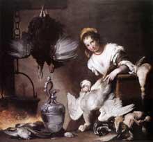 Bernardo Strozzi dit Il Cappucino: la «cuoca». Vers 1625. Huile sur toile, 176 x 185cm. Gènes, galerie du palais Rossi