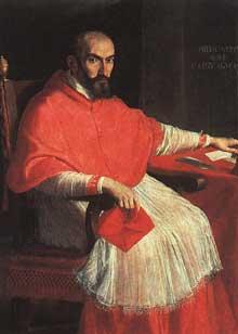 Domenico Zampieri dit le Dominiquin: portrait du cardinal Agucchi. 1605. Huile sur toile. Florence, Galerie des Offices.