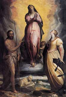 Frederico Zuccaro: l'Assomption de la vierge. Vers 1566. Huile sur toile. Cortone, musée diocésain.Huile sur toile. Cortone, musée diocésain