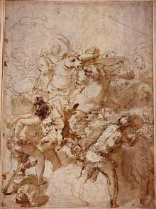 Taddeo Zuccaro: Etude pour la Bataille de Tunis Cambridge, Fitzwilliam Museu