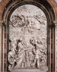Alessandro Algardi: la rencontre du pape LéonI et d'Attila.1646-1653. Marbre, 750cm. Rome, basilique saint Pierre
