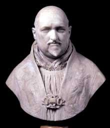 Gian Lorenzo Bernini: buste du pape Paul V. 1617-1618. marbre de Carrare, 34 cm. Rome, galerie Borghèse