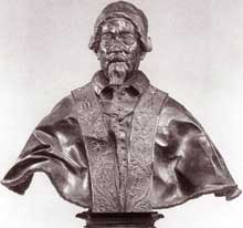 Melchiore Caffa: buste d'Alexandre VII. 1667. Bronze, 75cm. New York, Metropolitan Museum of Art