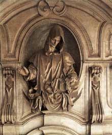 Cosimo Fanzago (1591-1678): Saint Bruno. Marbre. Chartreuse de san Martino, Naples