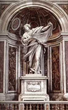 Francesco Mochi: Sainte Véronique, 1629-1632. Marbre, 500cm, basilique saint Pierre de Rome