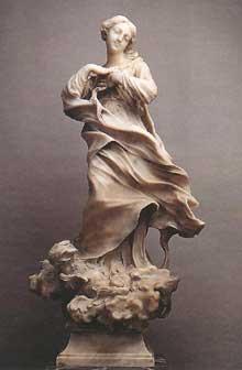 Filippo Parodi (1630-1702): l'Immaculée Conception de Gènes, 1660s. Marbre, 111cm. Santa Maria della Cella, Gènes