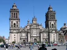 Façade de la cathédrale de Mexico