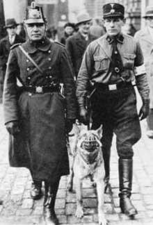 SA et police patrouillent ensemble à Berlin en 1933. Un superbe noyautage réussi par Göring