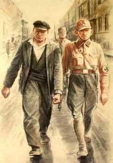 L'arrestation de Thälmann après l'incendie du Reichstag