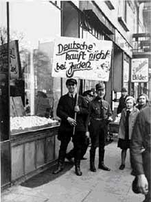 Avril 1933 : le boycott des magasins juifs