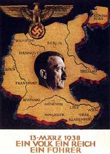 Affiche de propagande vantant l'Anschluss : « Ein Reich…