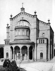 Bruchsal : la belle synagogue dans les années 1930