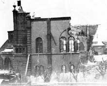 Bruchsal : la belle synagogue le 10 novembre 1938
