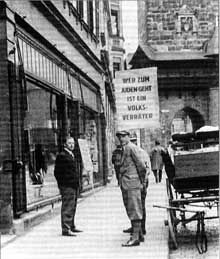 Le boycott du 1 avril 1933 à Cobourg