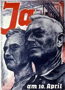 Affiche de propagande pour le référendum du 10 avril 1938 en Autriche