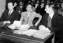 Leni Riefenstahl devant le tribunal de dénazification en 1952