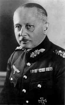 Le général et baron Werner Freiherr Von Fritsch (1880-1939)