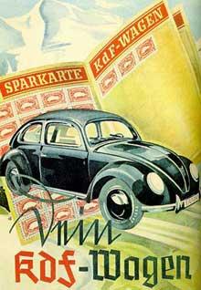 La « Coccinelle », symbole de l'organisation « Kraft durch Freude… » Affiche de propagande de 193