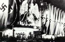 La première du film de Leni Riefenstahl, « le Triomphe de la volonté », « Triumph des Willens »