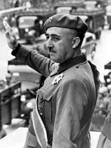 Francisco Franco (1892-1975), le chef des nationalistes espagnols