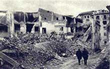 Les ruines de Belchite après les combats
