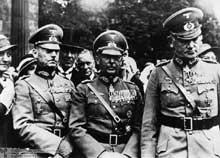 De gauche à droite : le général Gerd Von Rundstedt, le général Werner Von Fritsch et le général Werner Von Blomberg en 1937