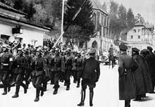 L'entrée des troupes allemandes en Autriche