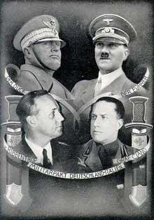 Affiche célébrant le « Pacte d'Acier »