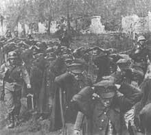 Les premiers prisonniers polonais