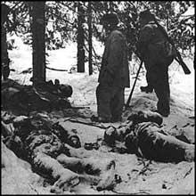 Cadavres de soldats soviétiques à Tolvajärvi