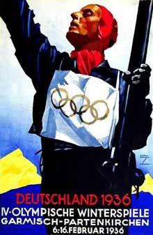 Affiche pour les Jeux Olympiques d'hiver de Garmisch Partenkirchen