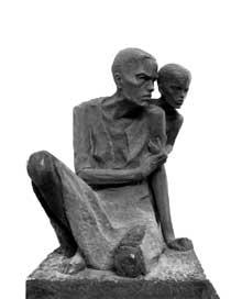 Auschwitz I: mère et enfant. Mémorial
