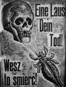 Auschwitz I: la prévention… «Eine Laus, dein Tod»: «un pou, ta mort»… où «Endlösung» et synonyme de «Entlaüsung»… «Solution finale» = «Epouillage»