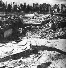 Auschwitz-Birkenau: ruines du KII de Birkenau, dynamité par les SS
