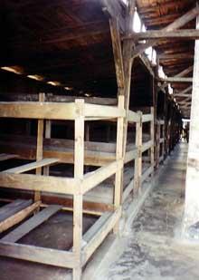 Auschwitz-Birkenau: intérieur d'une baraque de type «écurie»