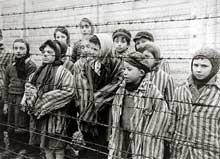 Auschwitz-Birkenau: les survivants. Ce sont des jumeaux auxquels Mengele n'a pas réussi à s'attaquer