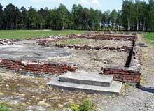 Auschwitz-Birkenau: les ruines du KIV