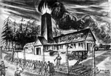 Auschwitz-Birkenau: le KIII, d'après David Olère