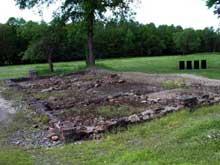 Auschwitz Birkenau: les ruines du «BunkerII» ou «Maison Blanche»