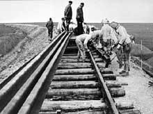 Buchenwald: kommando construisant une voie ferrée