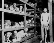 Buchenwald: baraque lors de la libération du camp