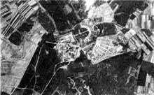 Buchenwald: vue aérienne du camp
