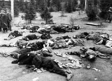 Buchenwald, camp-commando d'Ohrdruf: photos de la libération. En bas, le général Eisenhower
